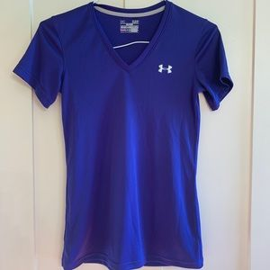 Under Armour purple v-neck workout top
